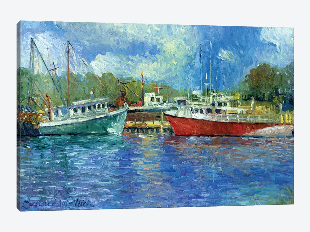 Wickford Boats 1-piece Art Print