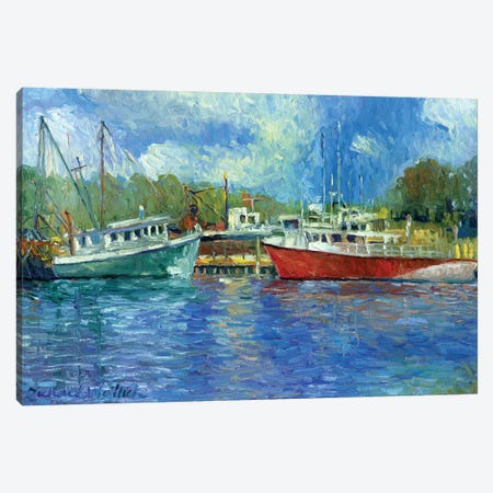 Wickford Boats Canvas Print #RWA194} by Richard Wallich Canvas Print