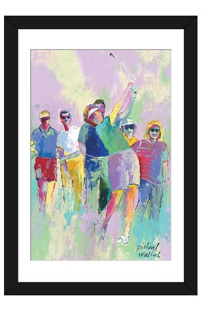 Women's Golf Framed Art Print