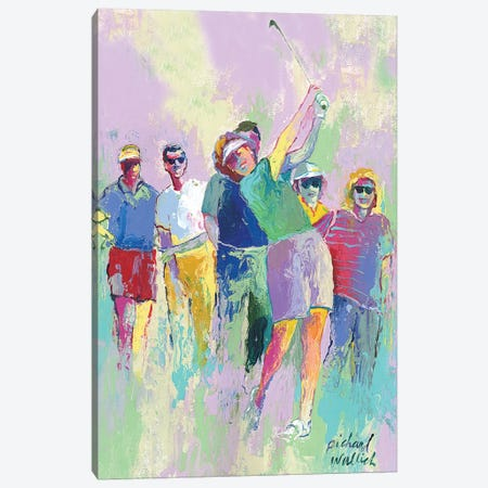 Women's Golf Canvas Print #RWA195} by Richard Wallich Canvas Art Print