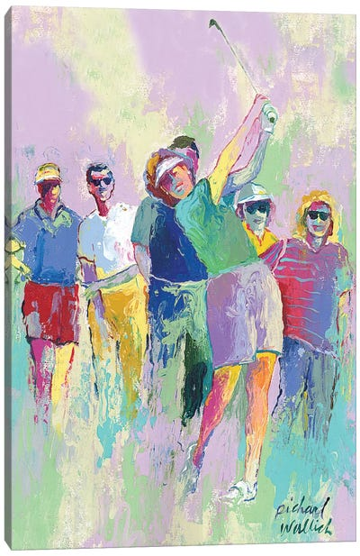 Women's Golf Canvas Art Print