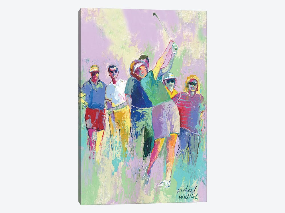 Women's Golf by Richard Wallich 1-piece Canvas Art