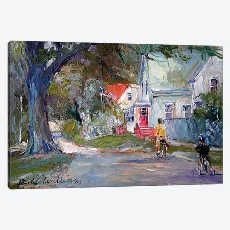 A Summer Ride Canvas Print #RWA198} by Richard Wallich Canvas Artwork