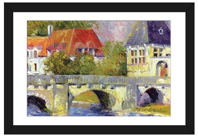 Brantome Bridge Framed Art Print