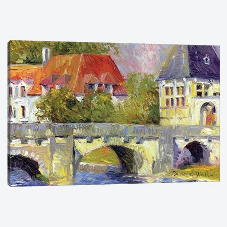Brantome Bridge Canvas Print #RWA21} by Richard Wallich Canvas Artwork