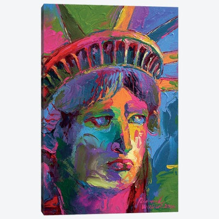 Lady Liberty II Canvas Print #RWA244} by Richard Wallich Canvas Art Print