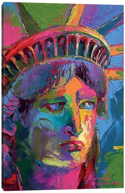 Lady Liberty II Canvas Art Print