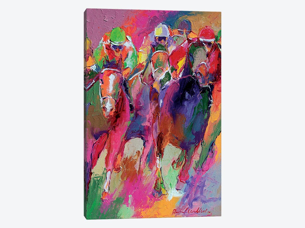 Race V by Richard Wallich 1-piece Canvas Art Print