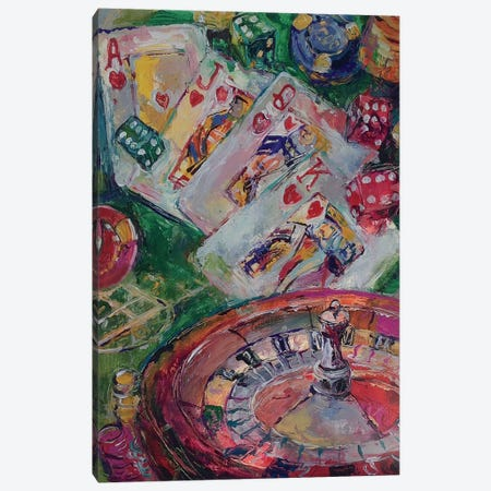 Casino Art Canvas Print #RWA27} by Richard Wallich Canvas Print