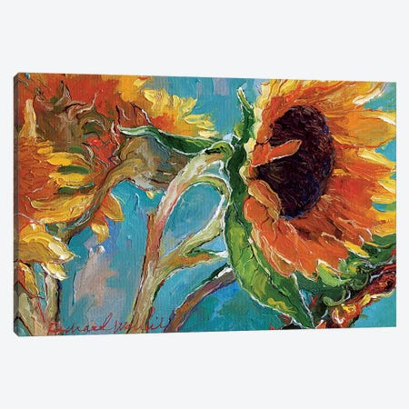 Sunflowers V Canvas Print #RWA282} by Richard Wallich Canvas Artwork
