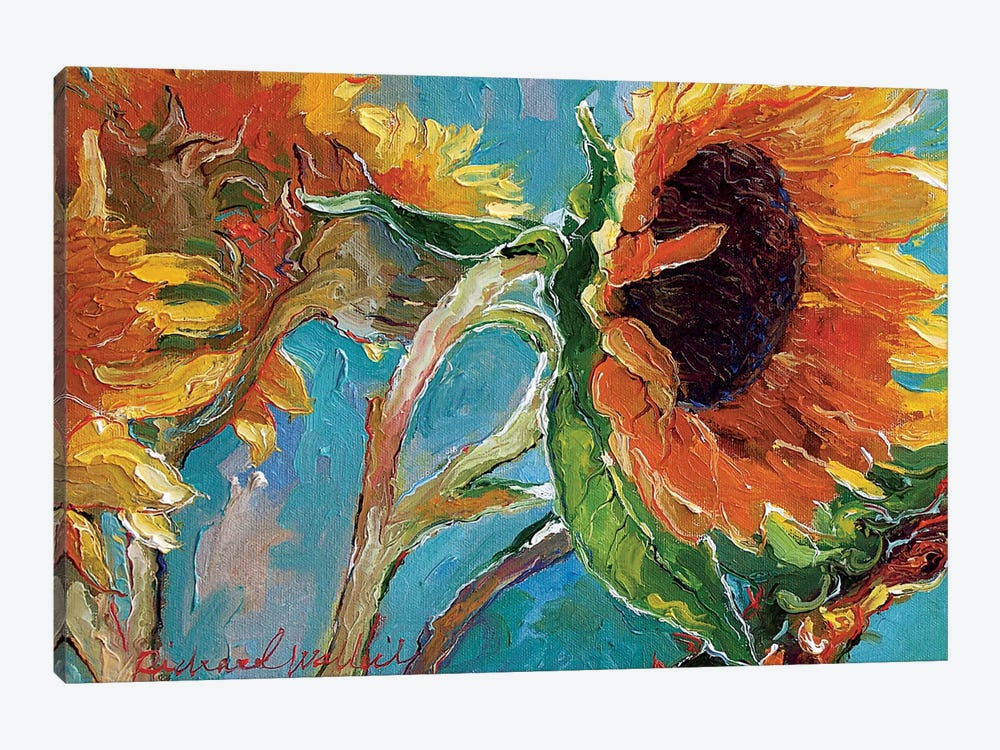 Sunflowers V by Richard Wallich 1-piece Canvas Artwork