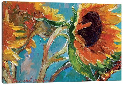 Sunflowers V Canvas Art Print