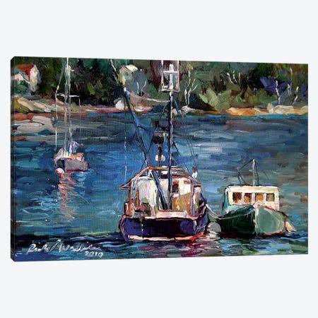 Waiting To Ride Canvas Print #RWA296} by Richard Wallich Canvas Wall Art