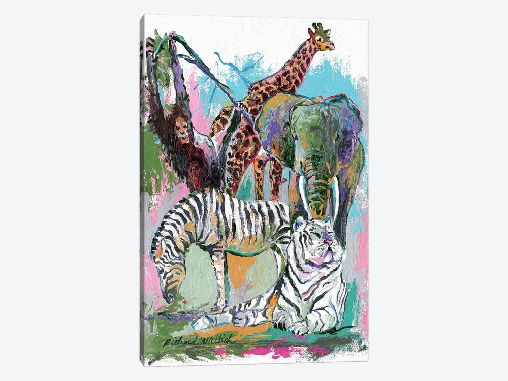 Animals by Richard Wallich 1-piece Canvas Artwork
