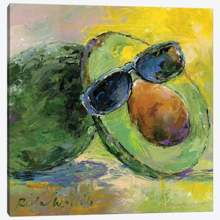 Art Avocado Canvas Print #RWA302} by Richard Wallich Canvas Print