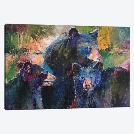Art Bear Family Canvas Print #RWA305} by Richard Wallich Canvas Wall Art