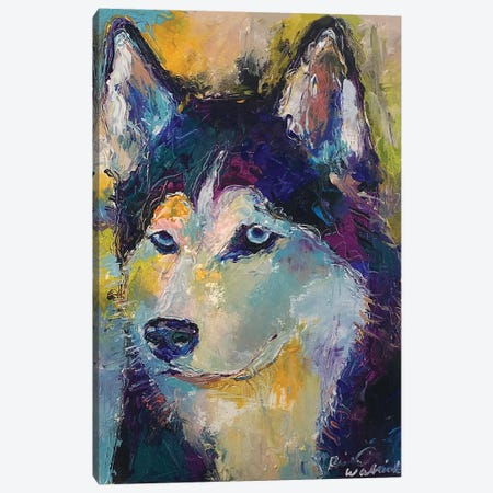 Art Husky Canvas Print #RWA314} by Richard Wallich Art Print
