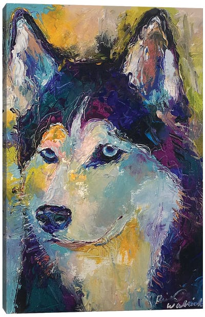 Art Husky Canvas Art Print