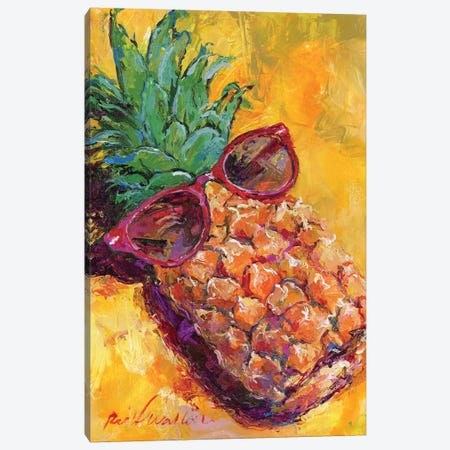 Art Pineapple Canvas Print #RWA315} by Richard Wallich Canvas Art Print