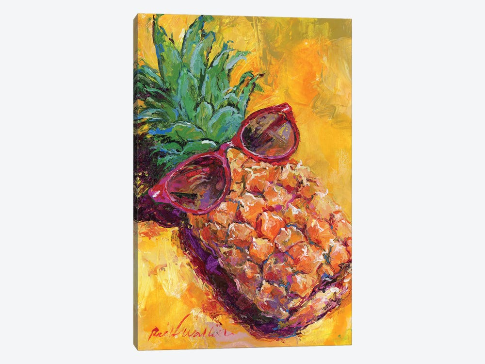 Art Pineapple by Richard Wallich 1-piece Canvas Print