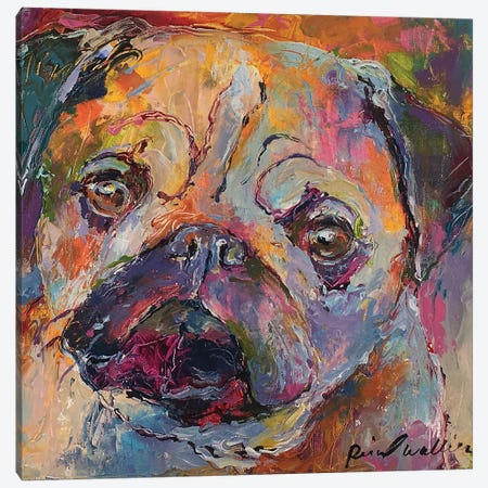 Art Pug Canvas Print #RWA316} by Richard Wallich Canvas Print