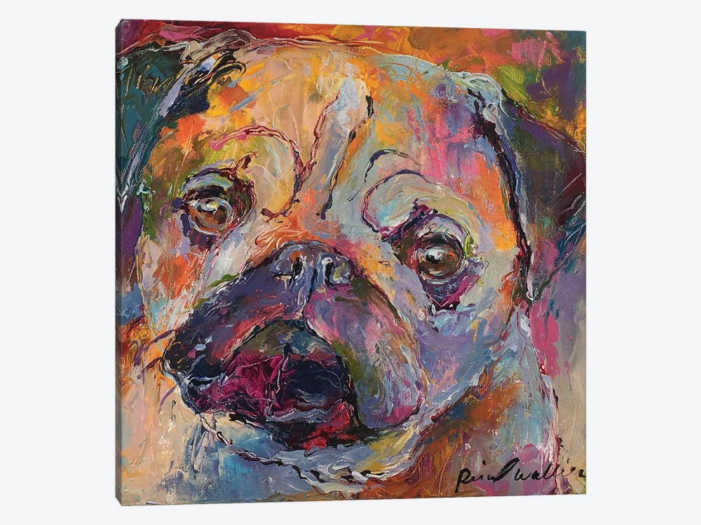 Art Pug by Richard Wallich 1-piece Canvas Wall Art