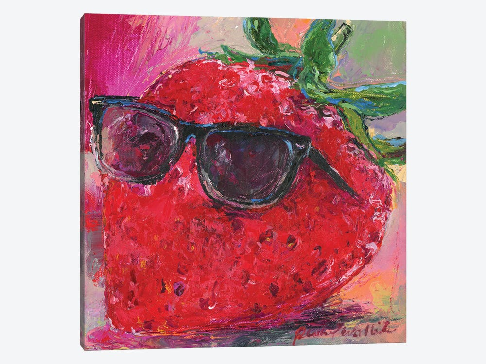 Art Strawberry by Richard Wallich 1-piece Canvas Art Print
