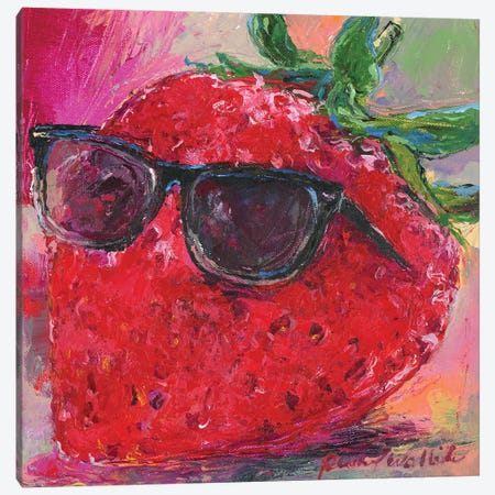 Art Strawberry Canvas Print #RWA319} by Richard Wallich Canvas Artwork