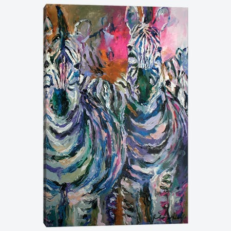 Art Zebra Canvas Print #RWA320} by Richard Wallich Art Print
