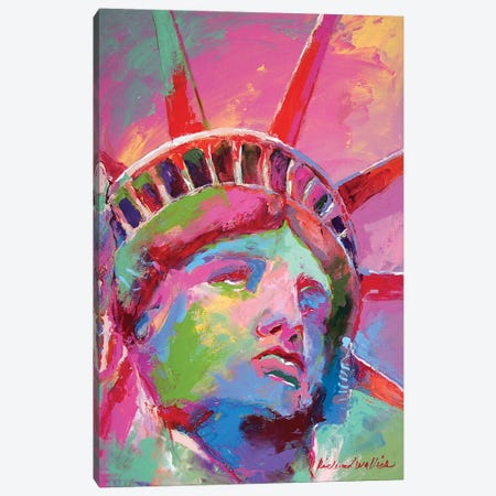 Lady Liberty Canvas Print #RWA321} by Richard Wallich Canvas Art Print