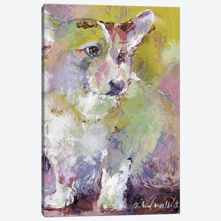 Corgi Canvas Print #RWA325} by Richard Wallich Canvas Wall Art