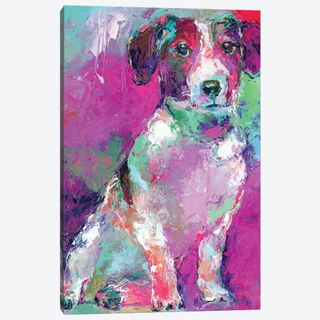 Russell Terrier Canvas Print #RWA326} by Richard Wallich Canvas Artwork
