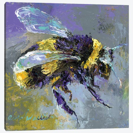 BumbleBee Canvas Print #RWA327} by Richard Wallich Canvas Wall Art