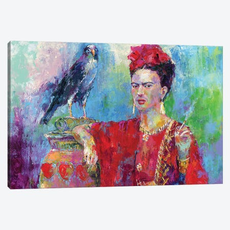 Frida Bird Canvas Print #RWA330} by Richard Wallich Canvas Wall Art