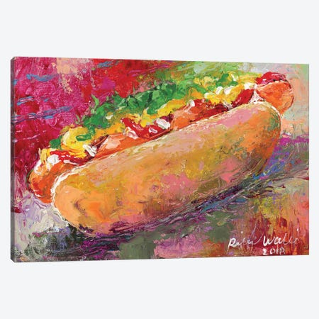 Hotdog Canvas Print #RWA331} by Richard Wallich Canvas Art