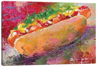 Hotdog Canvas Art Print