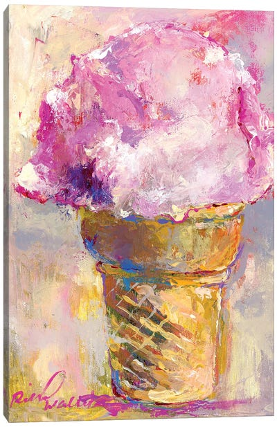 Ice Cream Cone Canvas Art Print