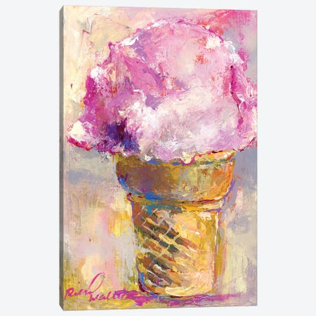 Ice Cream Cone Canvas Print #RWA333} by Richard Wallich Canvas Wall Art