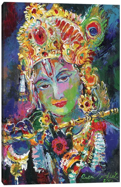 Krishna Canvas Art Print