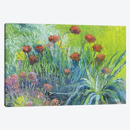 Art Flowers I Canvas Print #RWA3} by Richard Wallich Canvas Print