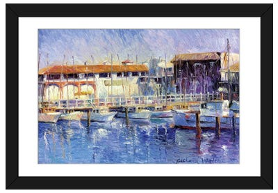 Fisherman's Wharf Framed Art Print