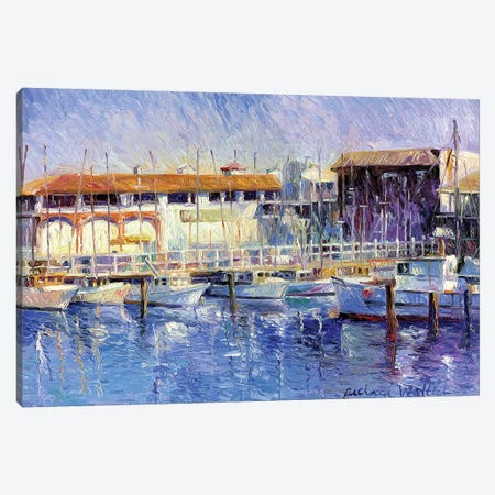 Fisherman's Wharf Canvas Print #RWA47} by Richard Wallich Art Print