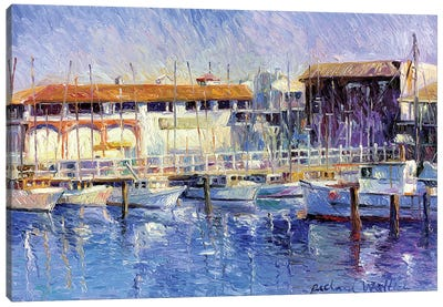 Fisherman's Wharf Canvas Art Print