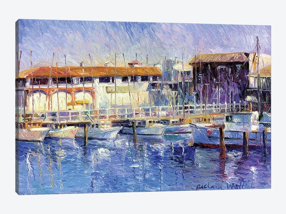 Fisherman's Wharf by Richard Wallich 1-piece Canvas Art Print