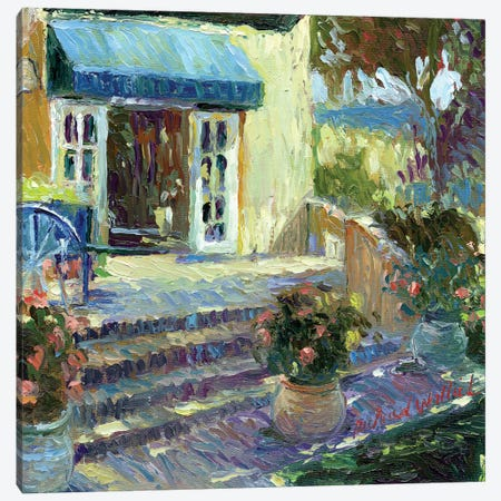 Flower Shop 3-Piece Canvas #RWA51} by Richard Wallich Art Print