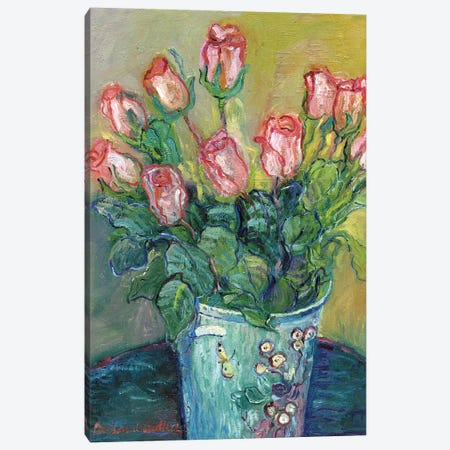 Flowers In A Vase Canvas Print #RWA53} by Richard Wallich Art Print