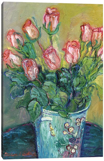Flowers In A Vase Canvas Art Print