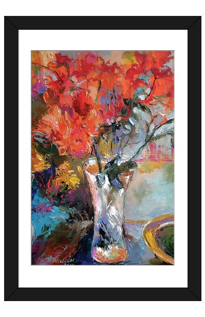 Flowers In Vase Framed Art Print