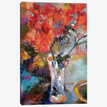 Flowers In Vase Canvas Print #RWA54} by Richard Wallich Canvas Artwork