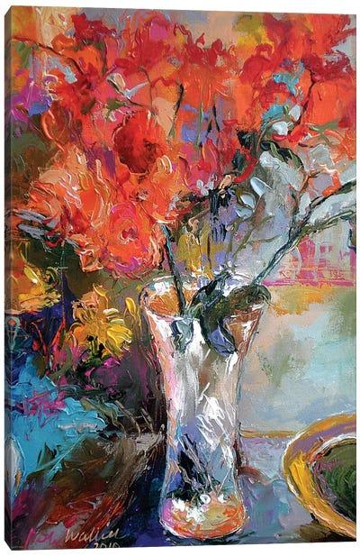 Flowers In Vase Canvas Art Print